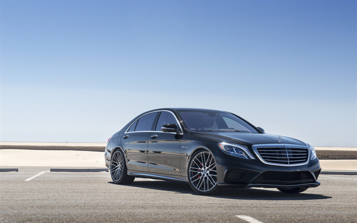 Mercedes Benz S63 Amg 2018 W222 Front View Tuning S