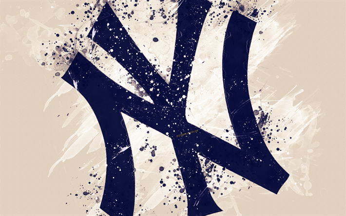 Download Wallpapers New York Yankees 4k Grunge Art Logo