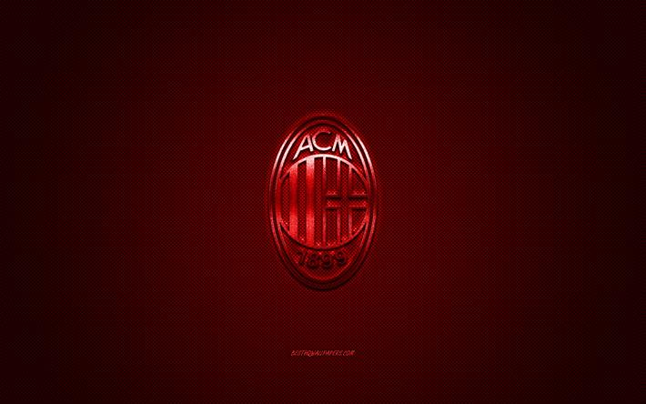 ダウンロード画像 Acミラン イタリアのサッカークラブ 赤い金属のロゴ 赤炭素繊維の背景 ミラノ イタリア エクストリーム ゾー サッカー Acミランロゴ フリー のピクチャを無料デスクトップの壁紙