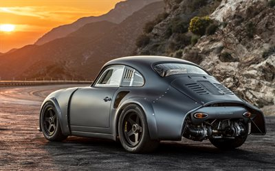 Porsche 356 RSR, 4k, back view, 2019 cars, supercars, 1960 Porsche 356 RSR, german cars, Porsche