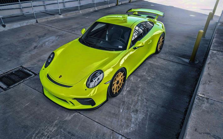 Scarica Sfondi Porsche 911 Gt3 Tuning 2019 Auto Adv1 Ruote