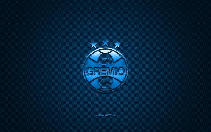 Scarica Sfondi Gremio Fc Club Sportivo Brasiliano Blu Metallizzato