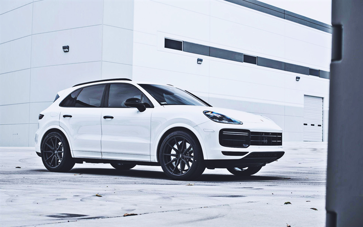 Download Wallpapers Tag Motorsports Tuning Porsche Cayenne Turbo 2019 Cars Suvs Vossen Wheels German Cars 2019 Porsche Cayenne White Cayenne Porsche For Desktop Free Pictures For Desktop Free