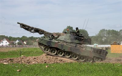 Leopard 2, 2A7, German main battle tank, landfill, modern tanks, Germany