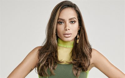 Anitta, Brazilian singer, portrait, Larissa de Macedo Machado, photoshoot, makeup, beautiful female eyes