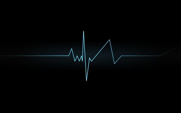 Scarica Sfondi Cardiogramma Linea Sfondo Scuro Per Desktop Libero