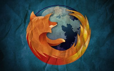 Firefox, old paper, logo, creative