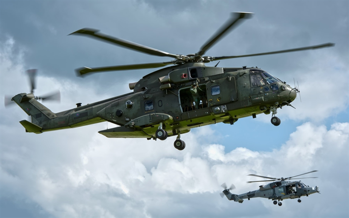 AgustaWestland AW101, military helicopters, combat aircraft, AW101, NATO