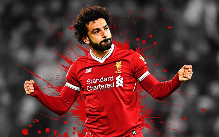 Download Wallpapers Mohamed Salah, 4k, Liverpool FC, Art