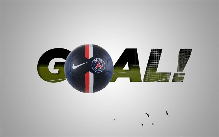 football, Paris Saint-Germain, goal, emblem, France