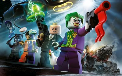 The Lego, Batman Movie, 2017, Two-Face, Bane, catwoman, Lego, Joker