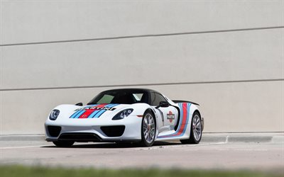 Porsche 918 Spyder, 2017, Martini, sports coupe, racing car, German sports cars, Porsche