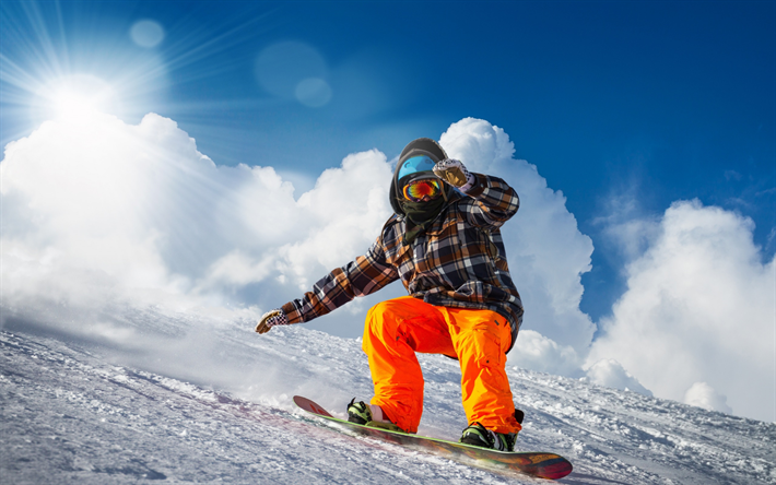 Herunterladen hintergrundbild snowboarding wintersport for Extremer minimalismus
