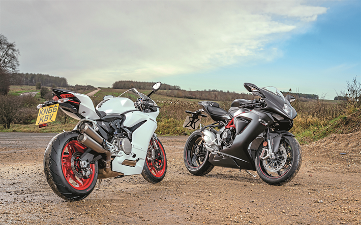 Download Wallpapers MV Agusta F3 800, Ducati 959 Panigale