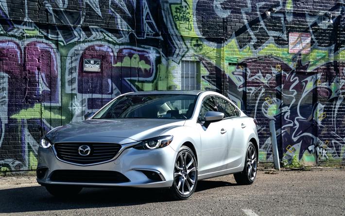 Download Wallpapers Mazda 6, 4k, Graffiti, 2018 Cars