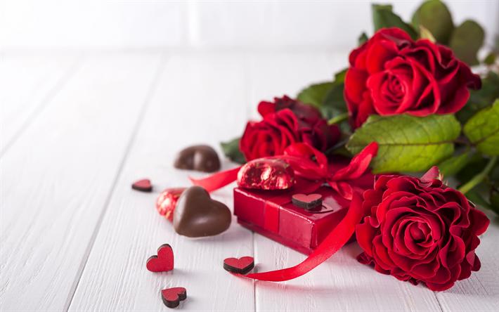 Fondo De Pantalla Dia De San Valentin Regalo Con Rosa: Descargar Fondos De Pantalla El Día De San Valentín, 14