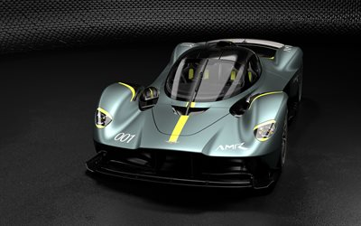 Aston Martin Valkyrie, 2019, hypercar, front view, British sports cars, Aston Martin