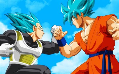 Dragon Ball, Japanese manga, DBS, Son Goku, Dragon Ball Super, Vegeta