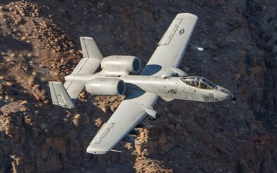 Fairchild Republic A-10 Thunderbolt II, A-10C, American attack aircraft, USAF, US military aircraft, USA