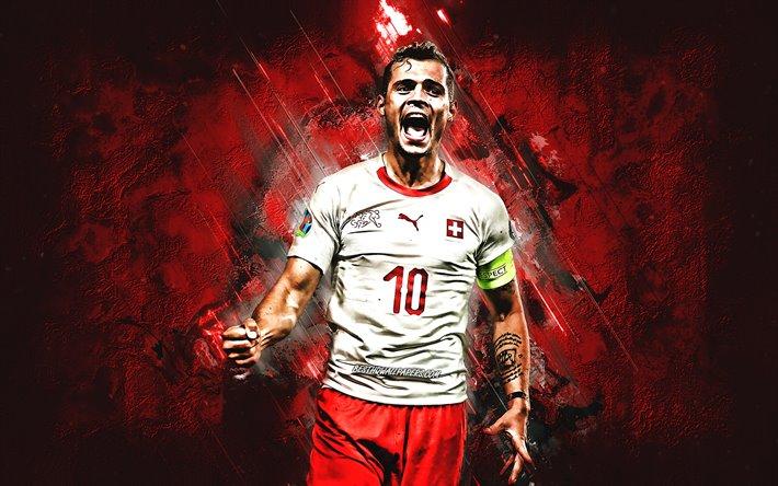 Download Wallpapers Granit Xhaka, Swiss Footballer