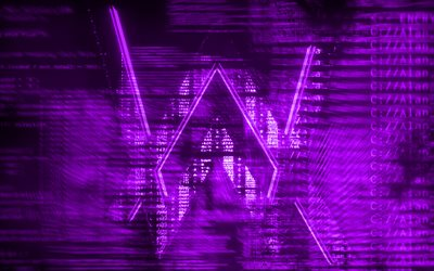 Alan Walker viola logo, creativo, arte digitale, superstar, Alan Walker logo, star della musica, Alan Walker