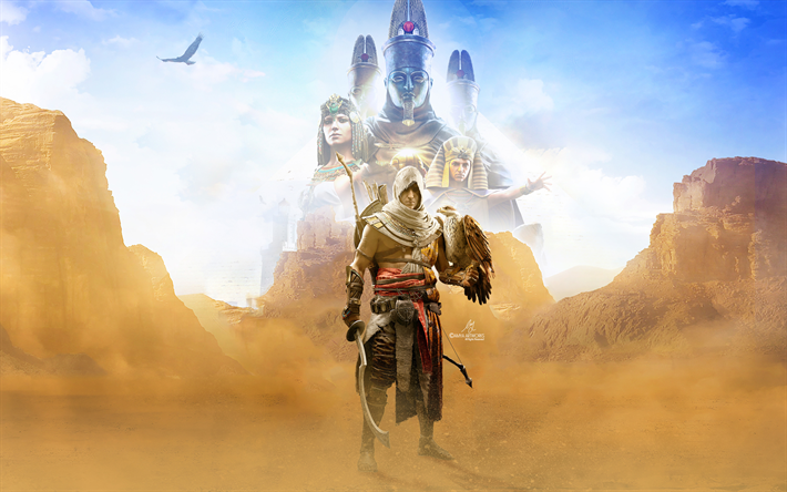 Download Wallpapers Assassins Creed Origins 4k 2017 Games