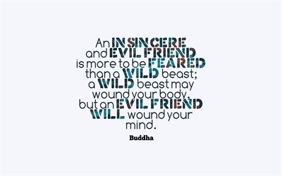 Quotes of Buddha, wallpaper with quotes, friendship, relationships, motivation, inspiration