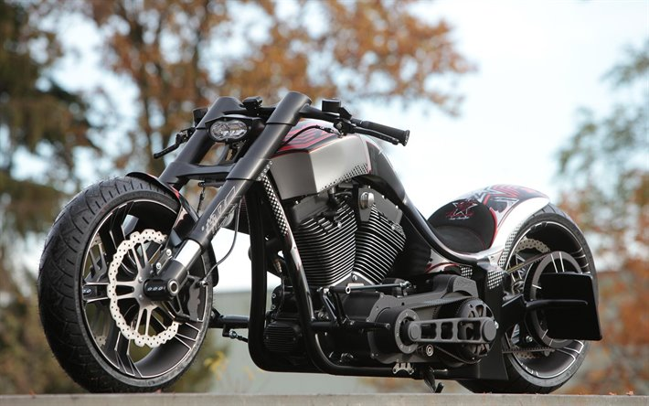 Thunderbike Dragster RS R-Odynamic, Harley-Davidson, Dragster RS, black motorcycle, custom Harley-Davidson, motorcycle tuning, american motorcycles