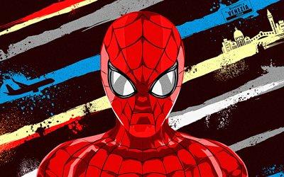 Download Wallpapers Spiderman Grunge Art Spider Man Fan Art