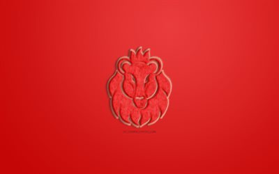 Leo Zodiac Sign, red fur sign, horoscope signs, zodiac signs, Leo Sign, astrological sign, Leo, red background