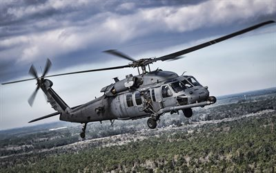 Sikorsky HH-60 Pave Hawk, 4k, military helicopters, American Army, US Air Force, Sikorsky, Army of USA, Sikorsky Aircraft