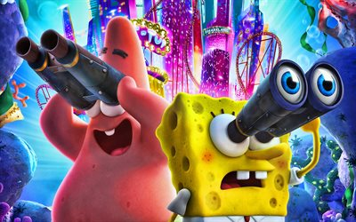 SpongeBob SquarePants, Patrick Star, 2020 movie, The SpongeBob Movie Sponge on the Run, poster, SpongeBob