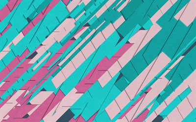 4k, material design, colorful lines, retro abstract art, geometry, creative, geometric shapes, lollipop, paper art, strips, colorful backgrounds