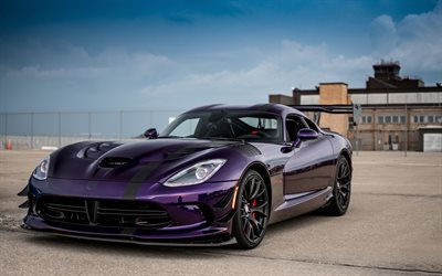 Dodge Viper ACR, 4K, supercars, 2020 cars, tuning, americam cars, Dodge