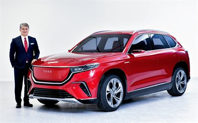 TOGG, 2020, exterior, front view, electric crossover, first Turkish car, new red TOGG, Turkish cars, TOGG Turkish national car
