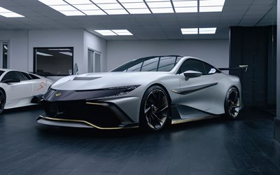 2021 Naran Hyper Coupe 4k, front view, silver sports coupe, new silver Hyper Coupe, supercar, Naran