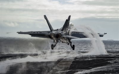 Boeing FA-18E, Super Hornet, US carrier-based fighter, US Air Force, aircraft carrier