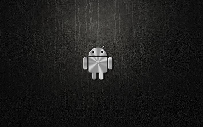 Download wallpapers android 4k metal logo gray - Fondos para android 4k ...