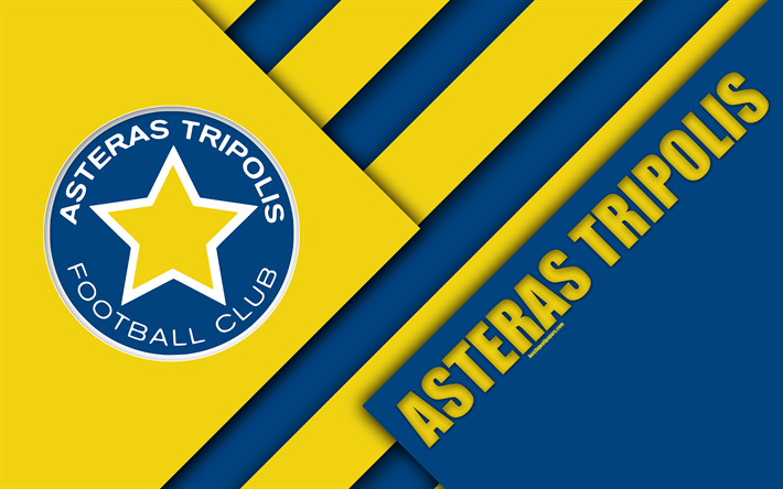 Asteras Tripolis: Download Wallpapers Asteras Tripolis FC, 4k, Blue Yellow