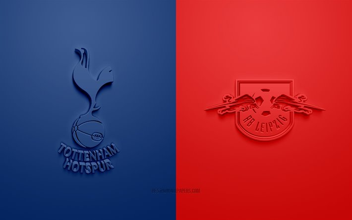 download wallpapers tottenham hotspur vs rb leipzig uefa champions league 3d logos promotional materials blue red background champions league football match tottenham hotspur fc rb leipzig for desktop free pictures for desktop download wallpapers tottenham hotspur