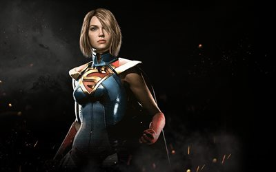 Injustice 2, Supergirl, superheroes, 2017 games