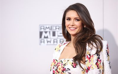 Nina Dobrev, Hollywood, canadian actress, smile, brunette, beauty