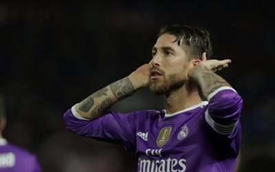 Real Madrid, Sergio Ramos, match, footballers, La Liga