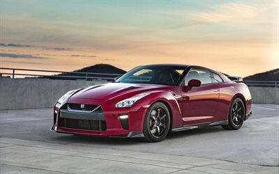 Nissan GT-R, Track Edition, 2017, Tuning GT-R, sports cars, black disks, red GT-R, Nissan