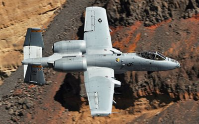 A-10C Thunderbolt II, Fairchild Republic, American attack aircraft, US Air Force, A-10, military aviation, USA, plane in the sky