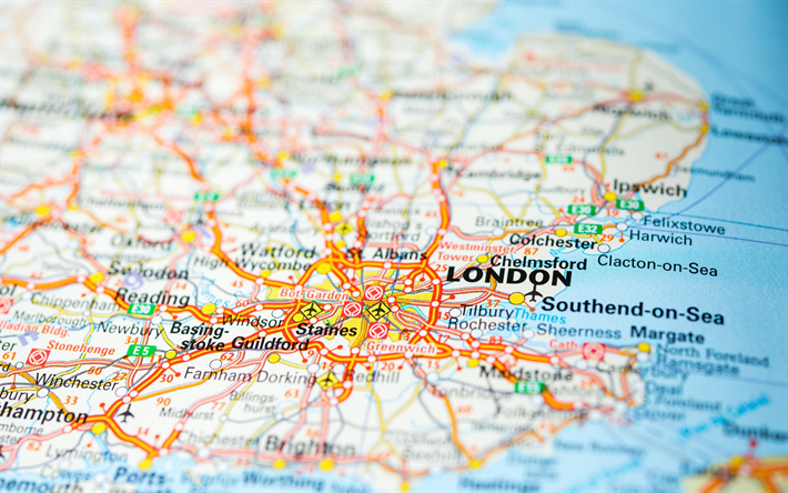 Map Of England Roads.Download Wallpapers London Map England Roads Highway