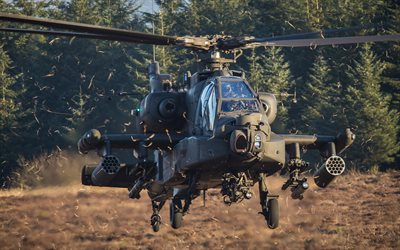 McDonnell Douglas AH-64 Apache, attack helicopter, combat aircraft, Royal Netherlands Air Force, Boeing AH-64D Apache