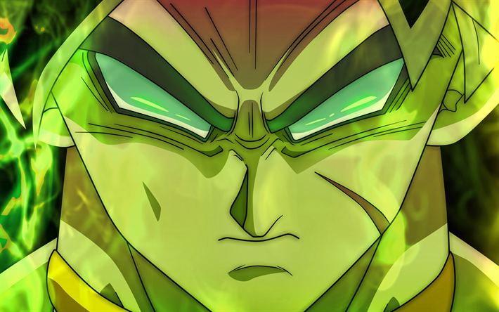 Download Wallpapers 4k Broly Close Up Dragon Ball Artwork Dbs Dragon Ball Super Dbs Characters Broly 4k For Desktop Free Pictures For Desktop Free