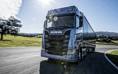 Scania S730, 2019, new truck, delivery concepts, cargo carriage, new blue S730, Scania