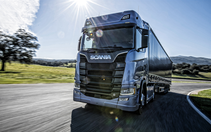 Download wallpapers Scania S730, 2019, new truck, delivery